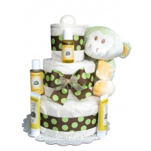 EcoFriendly Green Diaper Cake