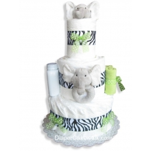 Safari Elephant Baby Diaper Cake