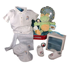 Ralph Lauren Sneakers with Golf Motif Baby Outfit From Kissy Kissy