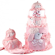 PRETTY AS A POODLE DIAPER CAKE BABY GIRL GIFT