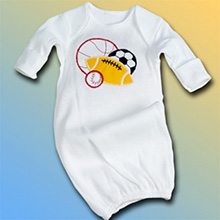 Sport Balls Baby Gown
