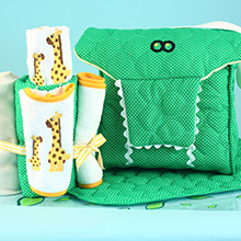 Alligator Diaper Tote Newborn Baby Gift