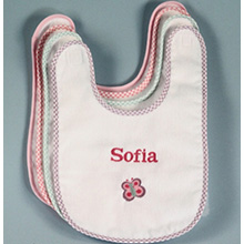 Baby Bib - Butterfly & Baby'S Name