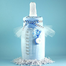 Baby Bottle Blankie Baby Boy Gift