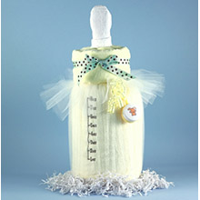 Baby Bottle Blankie Baby Shower Gift