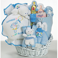 Baby Gift Basket Of Happiness For Baby Boy