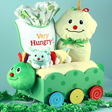 Baby Shower Gift- Caterpillar Plush Welcome Wagon