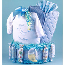 Back To Sleep Diaper Cake Baby Boy Gift