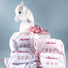 Customized & Personalized Baby Girl Gift-Name & Motif Layette
