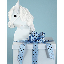 Deluxe Layette Baby Boy Gift-Rocking Horse Gift Box