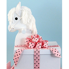 Deluxe Layette Baby Girl Gift-Rocking Horse Gift Box