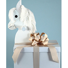 Deluxe Layette Baby Shower Gift -Rocking Horse Gift Box