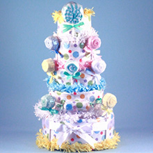 Deluxe Lollipop Diaper Cake