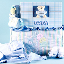 Deluxe Tote & Photo Album Baby Boy Gift