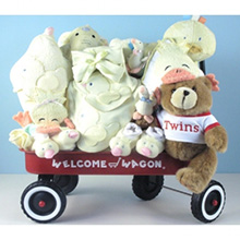 Deluxe Welcome Wagon Baby Shower Gift For Twins