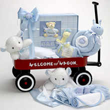 Forever Baby Book Deluxe Welcome Wagon Keepsake Baby Boy Gift