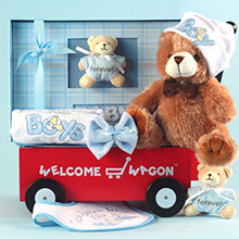 Forever Baby Book Welcome Wagon Baby Boy Gift