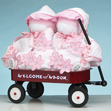 Girls Deluxe Welcome Wagon Gift For Twins