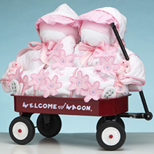 Girls Deluxe Welcome Wagon Personalized Gift For Twins