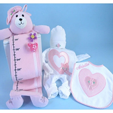Hearts & Flowers Personalized Baby Girl Gift Set
