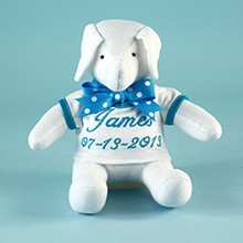 Keepsake Elephant Toy Personalized Baby Gift