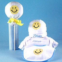 Little Happy Face Personalized Baby Gift-Boy