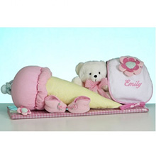 Nice Cream™ Layette Personalized Baby Girl Gift