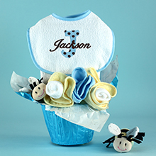 Pots Of Luck Personalized Baby Boy Gift