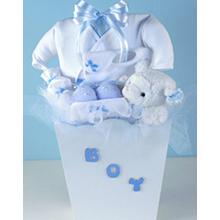 Preemie Boy Layette Baby Gift Basket