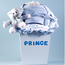 Prince Layette Baby Gift Basket