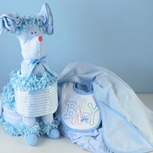 Puppy Diaper Cake Surprise Baby Boy Gift