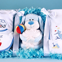 Puppy Pal Layette Baby Gift