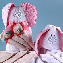 Rabbit Hooded Towel Baby Gift