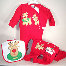 Reindeer Christmas Outfit Baby Gift Set