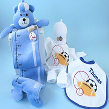 Sport Balls Layette Personalized Baby Gift