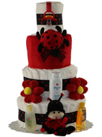 Lady Bug 4 Tier Diaper Cake