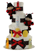 Mini Lady Bug 4 Tiers
