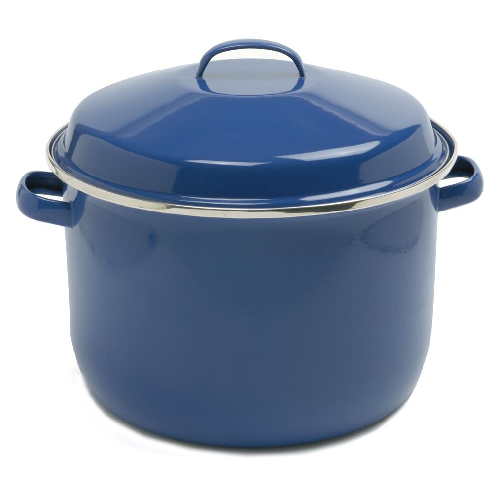 Norpro 18Qt/17L Porcelain Enamel Canning Pot, Blue 588