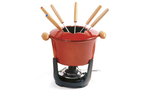 Norpro 10 Piece  Cast Iron Fondue Set 501