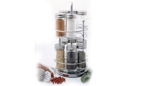 Norpro 2 Level Spice Rack W/12 Jars 765