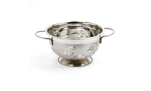 Norpro 3 Qt Stainless Steel  Colander-Leaves/Cherry 232