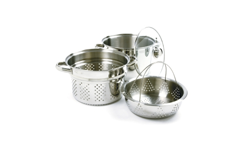 Norpro 4 Piece  Stainless Steel  Steamer Cooker Tri-Ply Base 2024