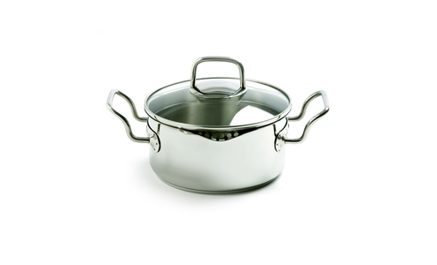 Norpro Krona Stainless Steel  2.5Qt Vented Pot With Straining Lid 610