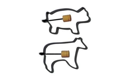 Norpro Pig/Cow Pancake/Egg Rings, 2Piece s 988
