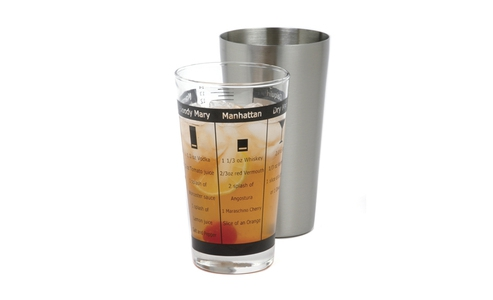 Norpro Stainless Steel  Recipe Cocktail Shaker 465
