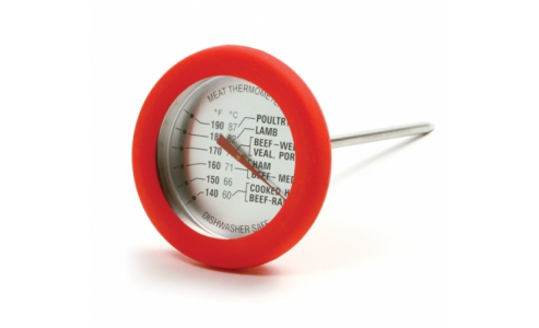 5978 SOFT GRIP SILICONE MEAT THERMOMETER - RED