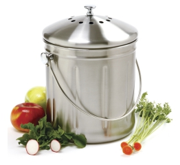 Norpro 1.5G Jumbo Stainless Steel Compost Keeper 84