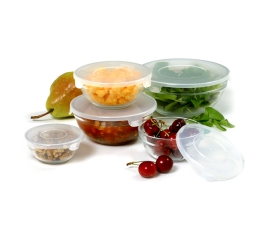 Norpro 10Piece  Glass Bowl Set W/Lids 1018