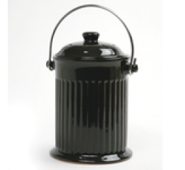 Norpro 1G Ceramic Compost Crock, Black 93EB