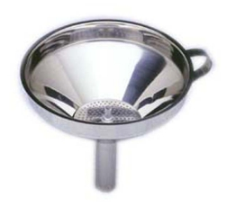 Norpro 6 Stainless Steel  Funnel With Detachable Strainer 247